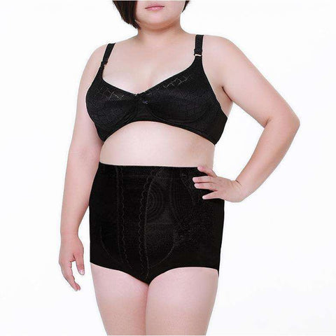Buy the High Waist Girdle Breathable Sexy Panties for Plus Size Women / Black / XXXL. Shop Shapers Online - Kewlioo