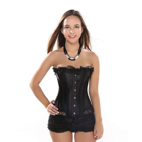 Buy the Sexy Satin and Lace-Up Boned Corset. Shop Corsets Online - Kewlioo