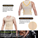 Buy the Men's Zipper Firm Body Shaper Vest with Back Support. Shop Shapers Online - Kewlioo