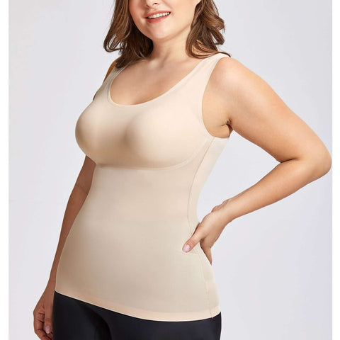 Buy the Women's Tummy Control Shapewear Camisole Basic Tank Tops / XS / Beige. Shop Tops Online - Kewlioo