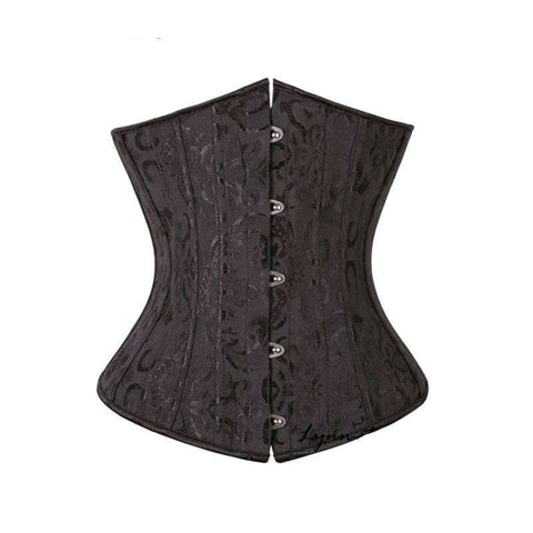 Buy the Women's Plus Size Black Satin Embroidered Corset. Shop Corset Online - Kewlioo