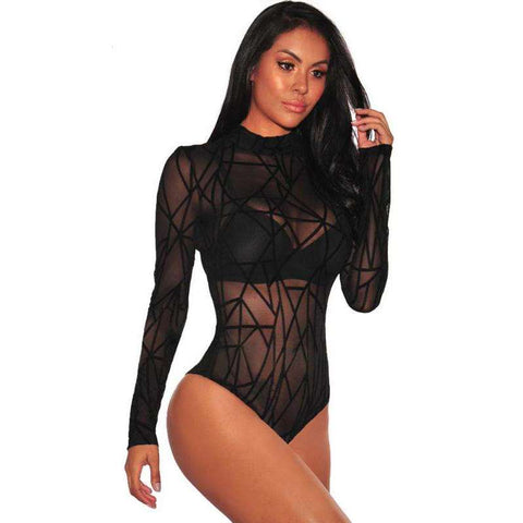 Buy the 2018 Ladies Bodycon Suit Long sleeve Top / Black 2 / S. Shop  Online - Kewlioo
