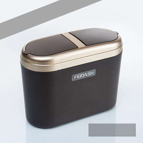 Buy the Mini Car Trash Bin 0.8L / Gold. Shop Car Gadgets Online - Kewlioo