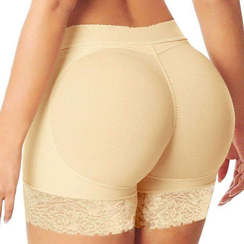 Buy the Padded Butt Shaper Boyshorts / Beige / S. Shop Butt Lifters Online - Kewlioo