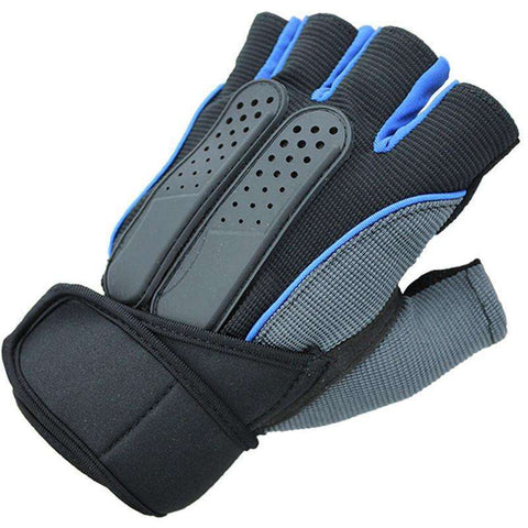 Buy the Unisex Tactical Weight Lifting Gym Gloves / Blue / L. Shop Gym Gloves Online - Kewlioo