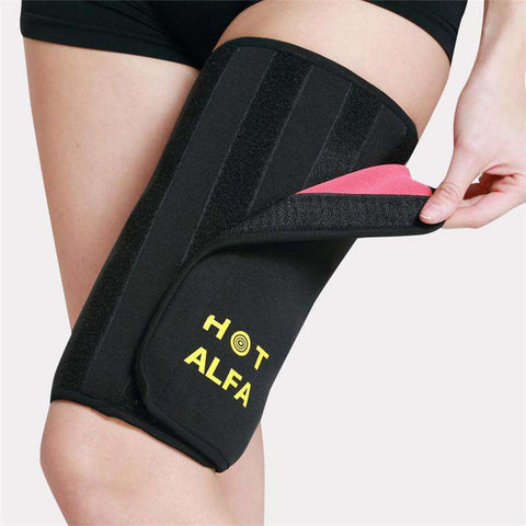 Buy the Women's Neoprene Sauna Thigh Wrap - One Piece / Black / One Size. Shop Weight Loss Accessories Online - Kewlioo