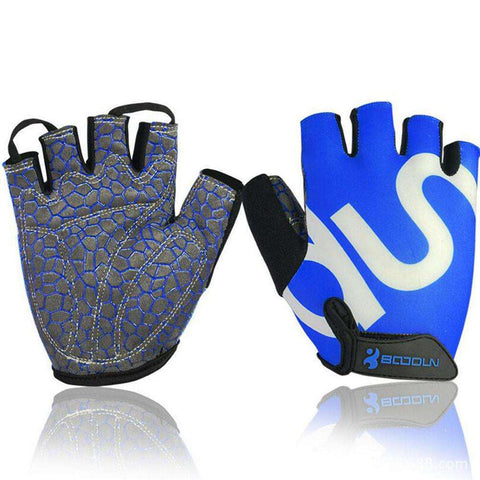 Buy the Queshark Unisex Body Building Gym Gloves / Blue / L. Shop Gym Gloves Online - Kewlioo