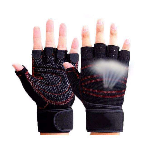 Buy the Unisex Anti-Skid Fitness Weight Lifting Gloves / Black / L. Shop Gym Gloves Online - Kewlioo
