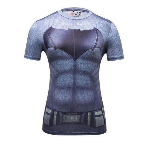 Buy the Superhero Bat Woman Short-Sleeve Compression T-Shirt / Batman / M. Shop Compression Shirts Online - Kewlioo