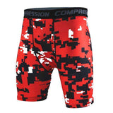 Buy the Men's Camouflage Compression Shorts / Red Black Camo / S. Shop Compression Shorts Online - Kewlioo