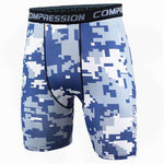 Buy the Men's Camouflage Compression Shorts / Blue White Camo / S. Shop Compression Shorts Online - Kewlioo
