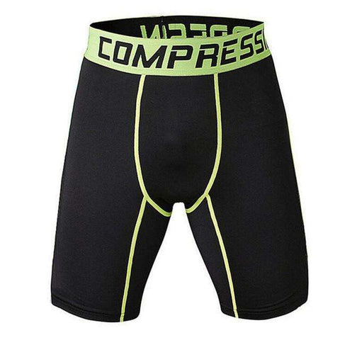 Buy the Men's Camo Compression Shorts / Black/Lime / S. Shop Compression Shorts Online - Kewlioo