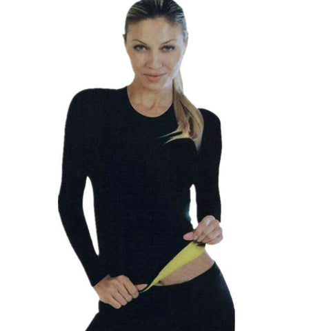 Buy the Woman's Neoprene Long Sleeve Weight Loss Shirt. Shop Weight loss tops Online - Kewlioo