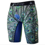 Buy the Men's Animal Compression Shorts / Peacock / S. Shop Compression Shorts Online - Kewlioo