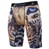 Buy the Men's Animal Compression Shorts / Cheetah / S. Shop Compression Shorts Online - Kewlioo