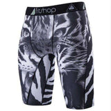 Buy the Men's Animal Compression Shorts / White Tiger / S. Shop Compression Shorts Online - Kewlioo