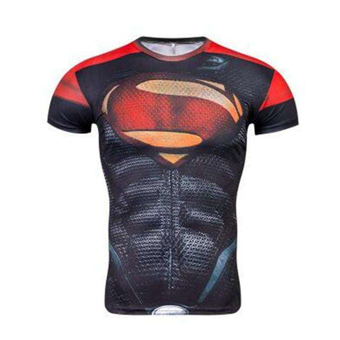Buy the Superhero Short-Sleeve Compression Rash Guard / Superman / S. Shop Compression Shirts Online - Kewlioo