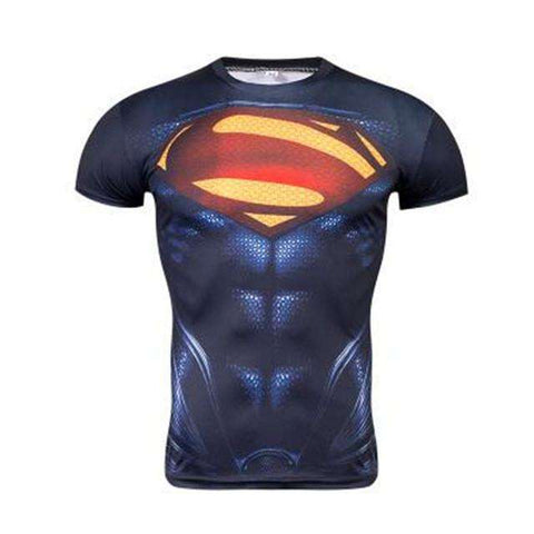 Buy the Superhero Short-Sleeve Compression Rash Guard / Superman 2 / S. Shop Compression Shirts Online - Kewlioo
