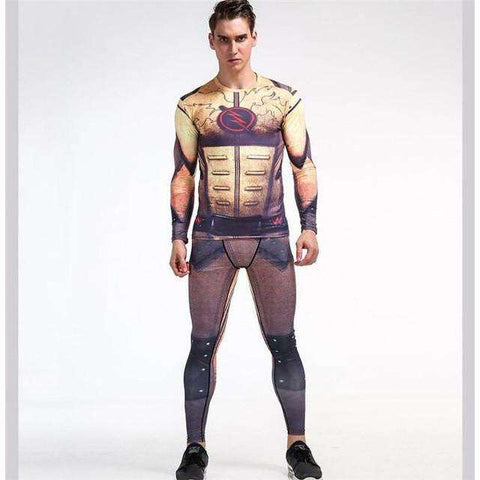 Buy the Superhero Compression Suit (Long Sleeve Shirt + Leggings) / Flash / S. Shop Compression Suit Online - Kewlioo