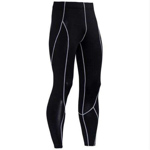 Buy the Men's Blackout Compression Pants / Black/Grey / S. Shop Compression Leggings Online - Kewlioo