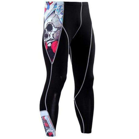 Buy the Men's Blackout Compression Pants / Skulls / S. Shop Compression Leggings Online - Kewlioo