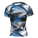 Buy the Men's Short-Sleeve Camouflage Compression Shirt / Triangles / S. Shop Compression Shirts Online - Kewlioo