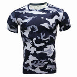 Buy the Men's Short-Sleeve Camouflage Compression Shirt / Black & White Camo / S. Shop Compression Shirts Online - Kewlioo