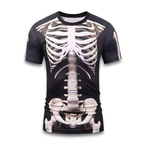 Buy the Skeleton Short-Sleeve Compression Rash Guard / Skulls / XXS. Shop Compression Shirts Online - Kewlioo