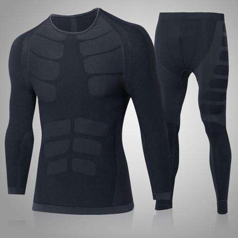 Buy the Men's Compression Training Suit / Black / L. Shop Compression Suit Online - Kewlioo