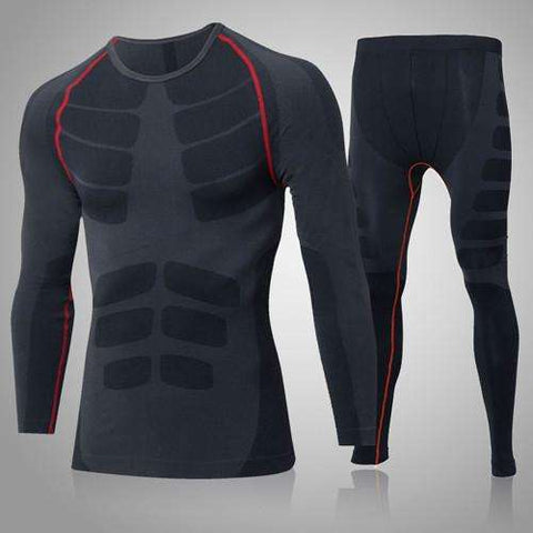 Buy the Men's Compression Training Suit / Black/Red / L. Shop Compression Suit Online - Kewlioo