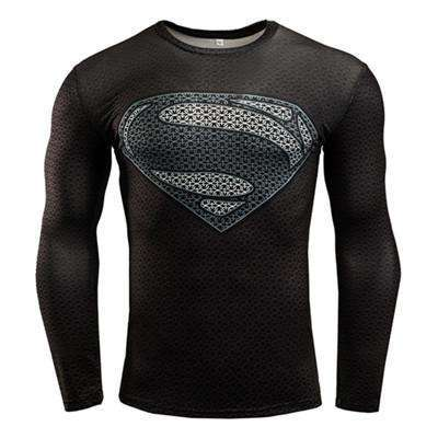 Buy the Black Superman Long-Sleeve Superhero Compression T-Shirt / Superman / S. Shop Compression Shirts Online - Kewlioo