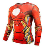Buy the Iron Man Superhero Long-Sleeve Compression Shirt / Iron Man / S. Shop Compression Shirts Online - Kewlioo