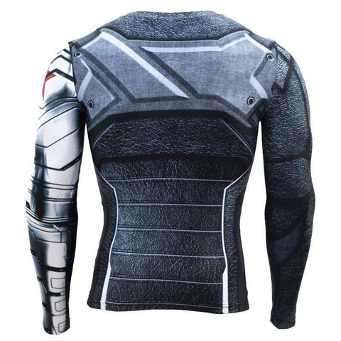 Buy the Captain America Winter Soldier Long-Sleeve Compression Shirt. Shop Compression Shirts Online - Kewlioo