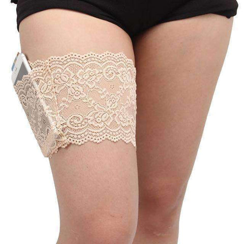 Buy the FREE Anti-Slip Bandelettes with Thigh Pocket / Beige / L. Shop Intimate Wear Online - Kewlioo