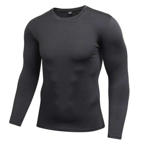 Buy the Men's Blank Long Sleeve Compression Top / Black / L. Shop Compression Shirts Online - Kewlioo