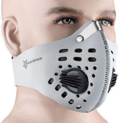 Buy the PERFORMANCE ACTIVATED CARBON TRAINING MASK / Light Grey. Shop Cycling Face Mask Online - Kewlioo