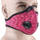 Buy the PERFORMANCE ACTIVATED CARBON TRAINING MASK / Pink. Shop Cycling Face Mask Online - Kewlioo