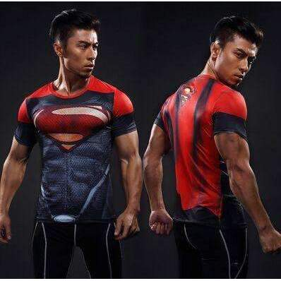 Buy the Superman Short Sleeve Compression T-Shirt / Red / S. Shop Compression Shirts Online - Kewlioo