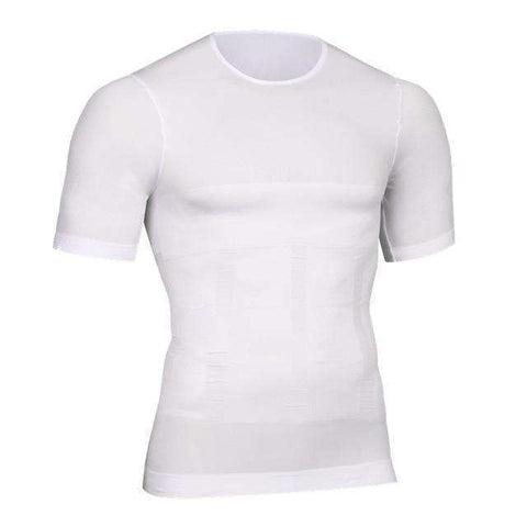 Buy the Men's Compression Slimming Under Shirt / White Shirt / M. Shop Shapers Online - Kewlioo
