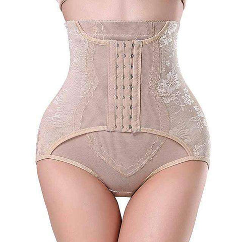 Buy the Plus Size High Waist Trainer Tummy Control Shaper / Beige / S. Shop Shaper Online - Kewlioo