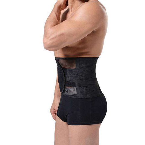Buy the Men's Breathable Body Shaper Slimming Belt Corset / Black / M. Shop Shapers Online - Kewlioo