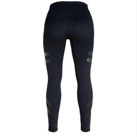 Buy the Army Green Sporting Leggings Clothing For Women / Black / S. Shop Leggings Online - Kewlioo