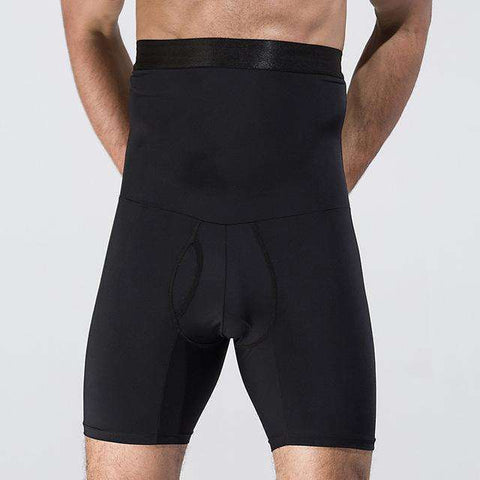 Buy the Men High Waist Body Control Boxer Pantie Slimming Shaper / Black / M. Shop Shapers Online - Kewlioo