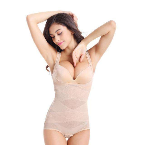 Buy the High-Quality Postpartum Waist Slimming Bodysuit / Beige / M. Shop Shaper Online - Kewlioo