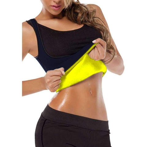 Buy the Womens Neoprene Weight-Loss Top / Black / S. Shop Weight loss tops Online - Kewlioo
