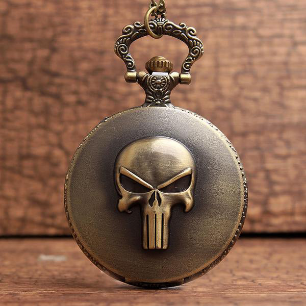 Punisher Skull Pocket Watch