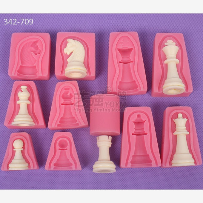 Chess Style Double-Sided Fondant Molds