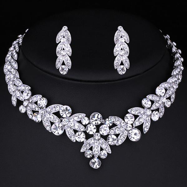 Luxurious Crystal Bridal Jewelry Sets