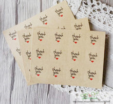 Red Heart Kraft Paper Seal Stickers