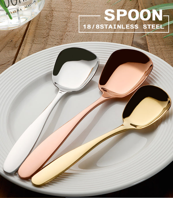 Stainless Steel Flat Spoons